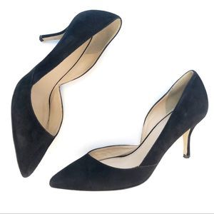 J Crew Kitten Heel Pointed Pumps Black 6